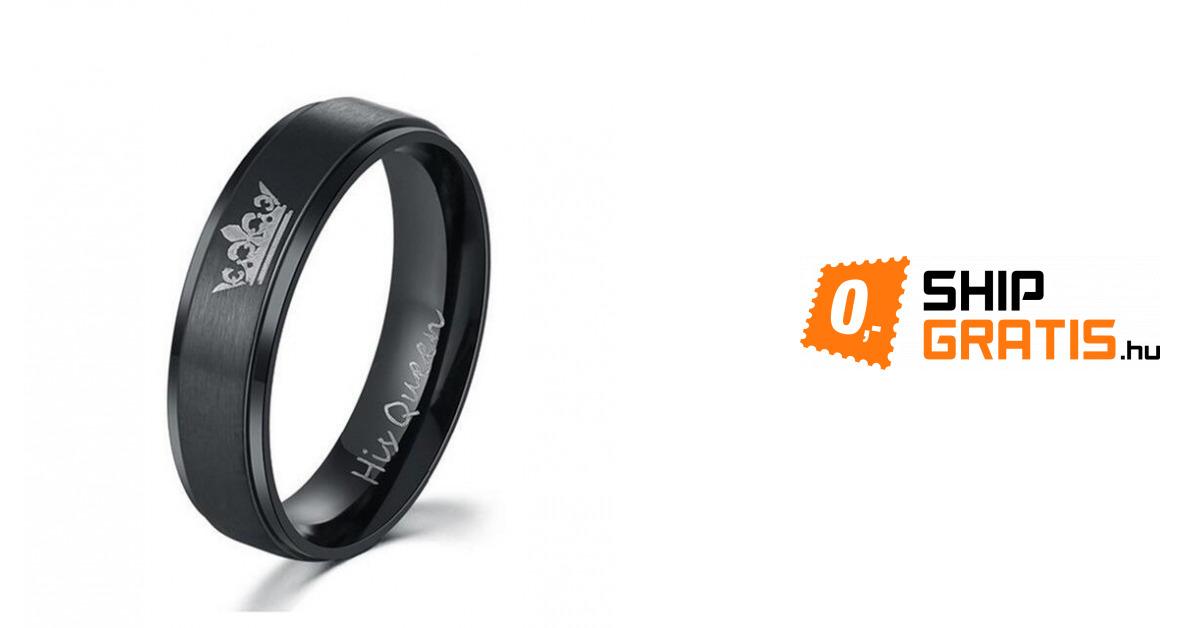 c5b0991bb7 Gyűrű pároknak - King és Queen - 2 szín   ShipGratis.hu