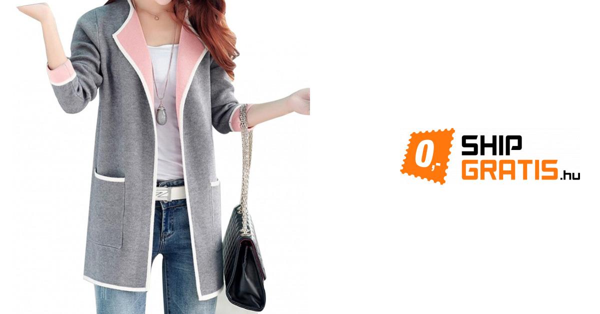 1a0ed05184 Elegáns női kardigán - 3 szín / 6 méret - Kabátok és zakók - Női ruházat -  Divat | ShipGratis.hu