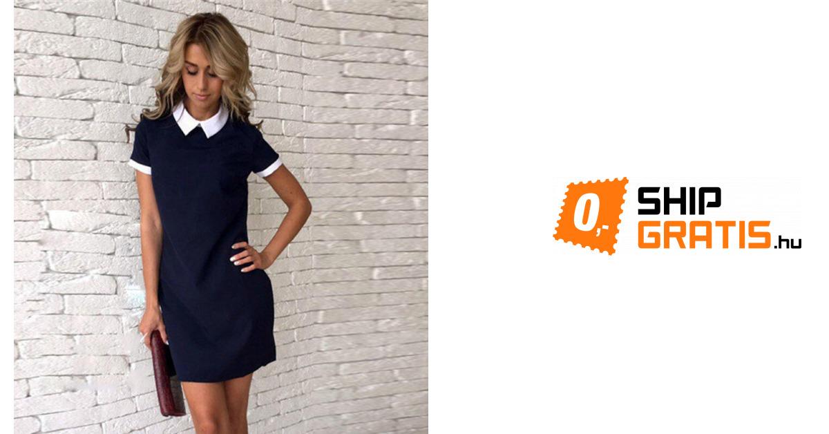 49d8613a45 Elegáns női ruha gallérral - 4 színben   ShipGratis.hu