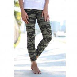 Női leggings katonai mintázat