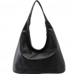 Női táska vonzó fekete színben